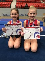 Level 2 Gymnasts: Lexi Bowman, Avery Hale