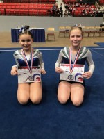 Level 3 Gymnasts: Nora Rodriguez, Peyton Colwell