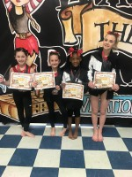 Level 2 Gymnasts- Tori Glover, Lexi Bowman, Samara Seymour, and Abby Bailey