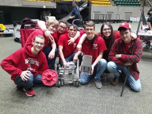 Left to Right: DC Gearheads: Jacob Hall, Lane Berryman, Hunter Rhodes, Paden Defir, Jeremy Smith, Anna Coleman and Parker Duncan