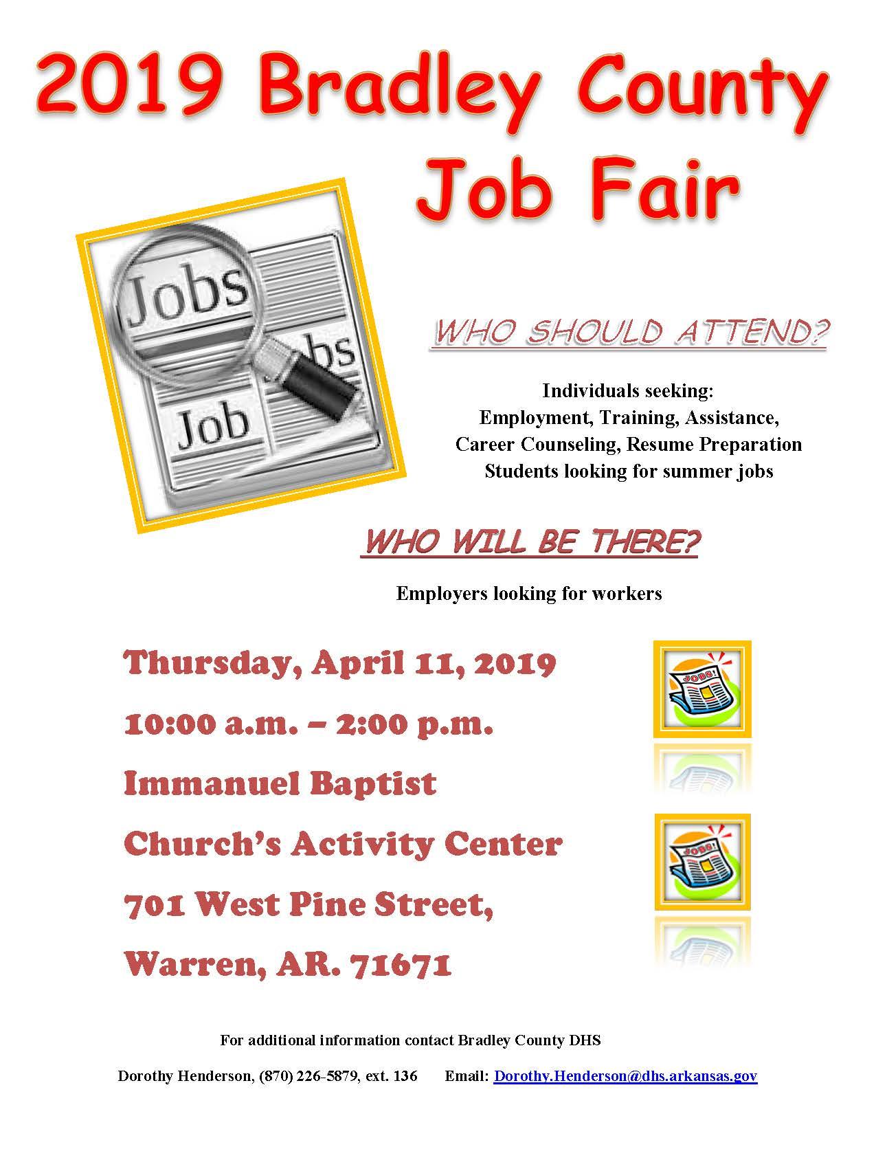 Job Fair Flyer 2019