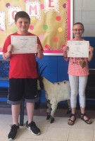 Silas Tucker and Emma Parker, MIS Essay winners