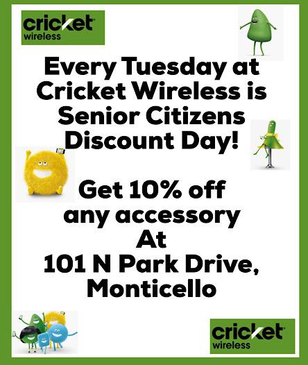 Cricket Tuesday senior citizen discount sr