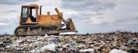 Landfill trash dump