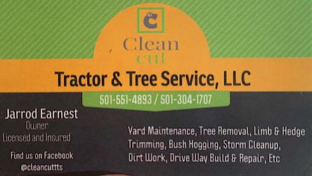 Clean cut tree tractor service Jarrod Earnest