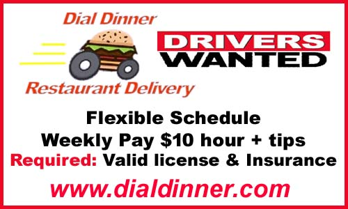 DialDinner DriversWanted