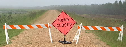Lake Levee Road closed