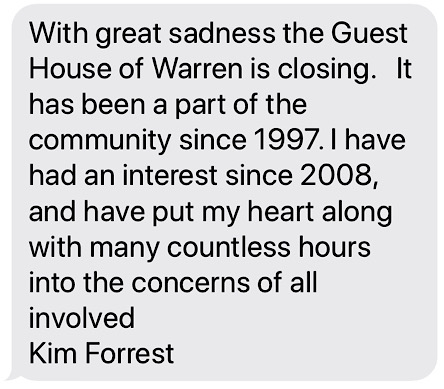 A note to the community from Mrs. Forrest, after closing the business her family operated for 12+ years.