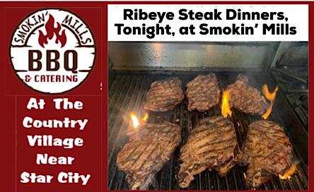 Smokin' Mills steak barbecue