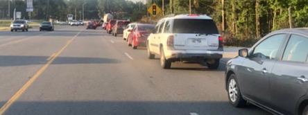 School bus traffic.