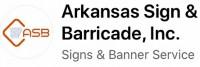 Arkansas sign & barricade