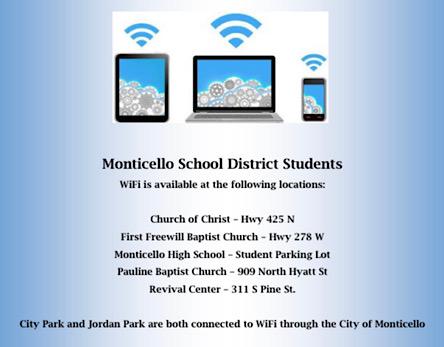 Monticello school district Wi-Fi