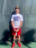 District Singles Champion Drew Burton