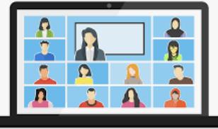 Virtual school education zoom laptop