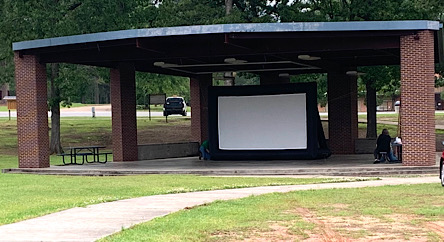 Movies movie in the park amphitheater city