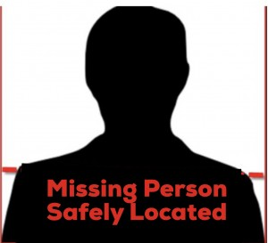Missing Person  Safely Located