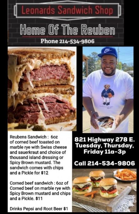 Leonard's Sandwich Shop, Open Today