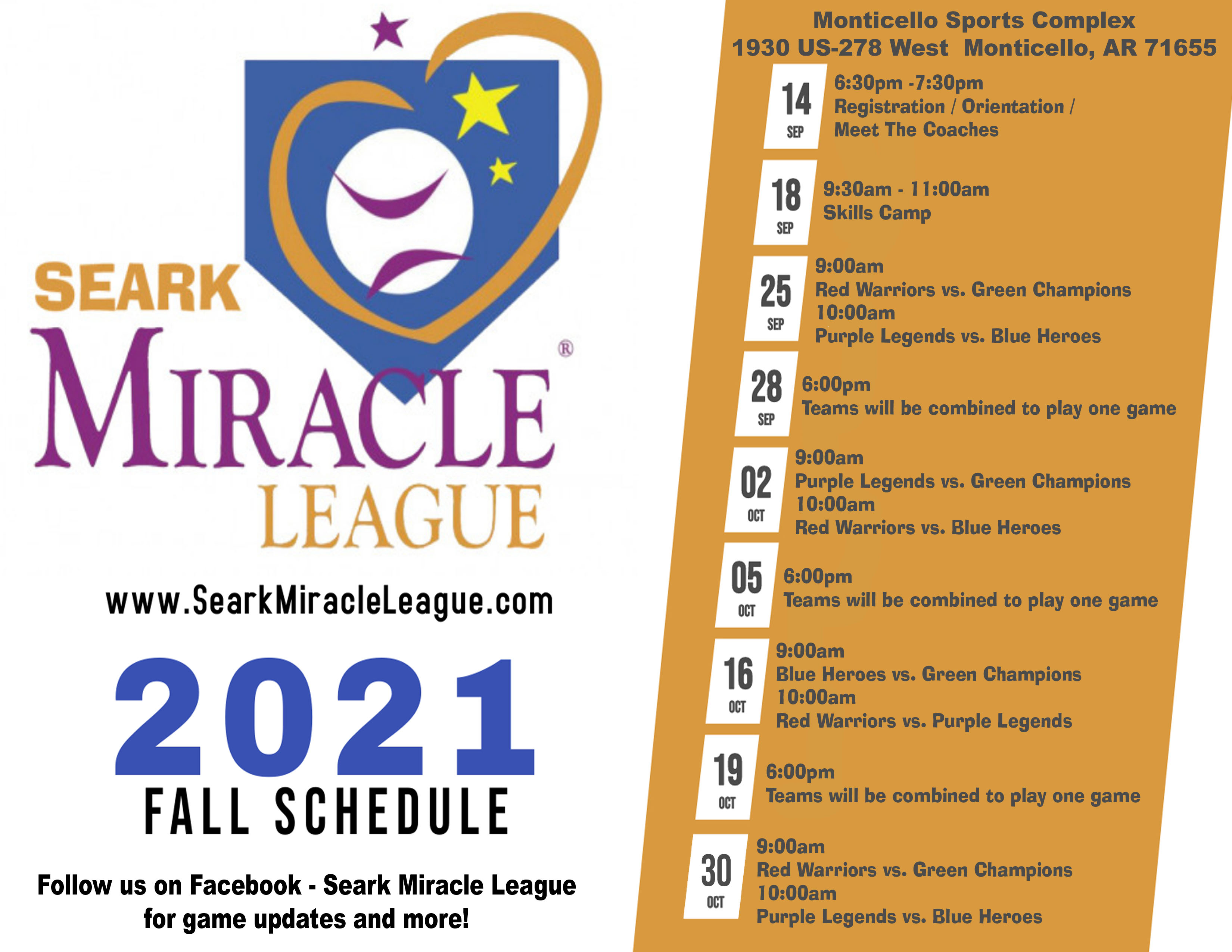 SearkMiracleLeagueFall2021Schedule
