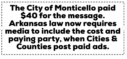 City Disclaimer
