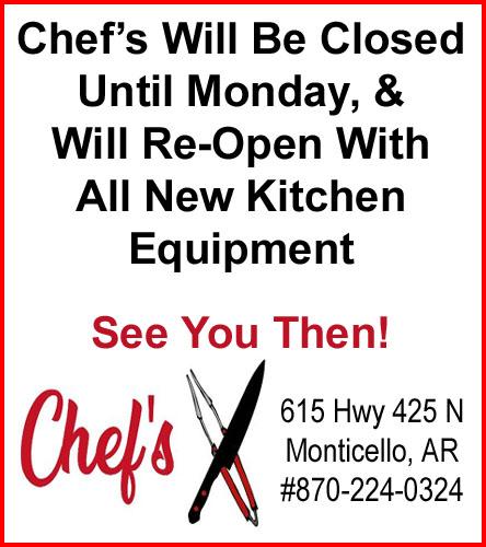 ChefsDoubleCenterClosedTillMonday